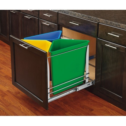 Rev-A-Shelf, Inc. 25QT White Replacement Trash Bin, for