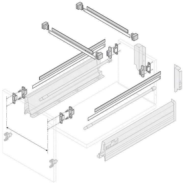 Blum Zrm 5500 Us Metafile Standard Kit White Woodworker