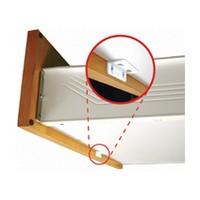 FastCap KK.50PC.CM Kolbe Korner Plastic Drawer Front Mounting Brackets, Clear Maple