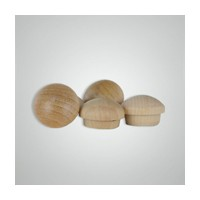 "Smith Wood SB38B-B, Wood Screwhole Plugs, Mushroom Head, 3/8"", Maple, 500 Box"