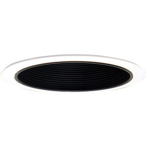 Design House 519561 6in Recessed Lighting Black Metal Baffle Trim, Black