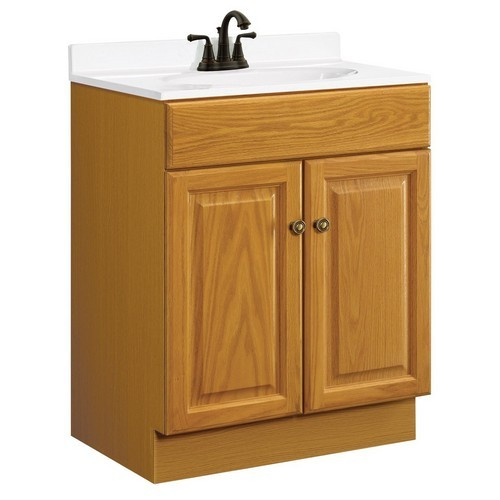 Honey Oak Cabinets Photos 12 Of 24: Design House 531988 Claremont Honey Oak Vanity Cabinet