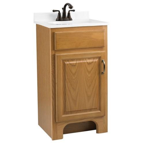 Design house 541102 richland nutmeg oak vanity cabinet for Bathroom cabinets 33