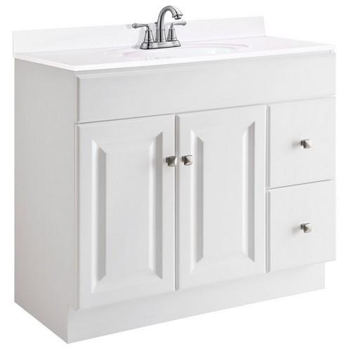 Design House 545095 Wyndham White Semi Gloss Vanity