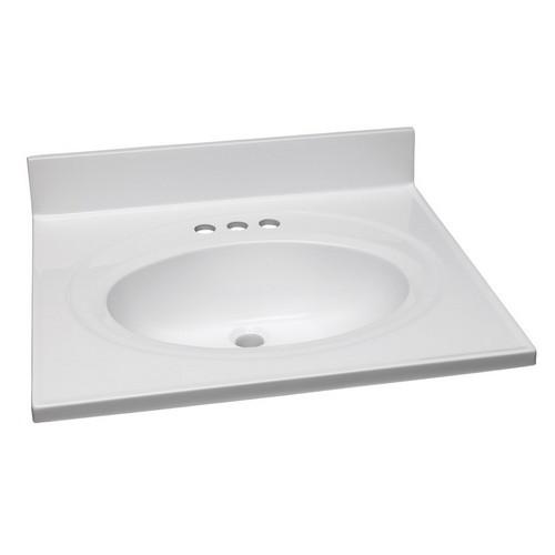 design house 551366 single bowl marble vanity top 25 inch