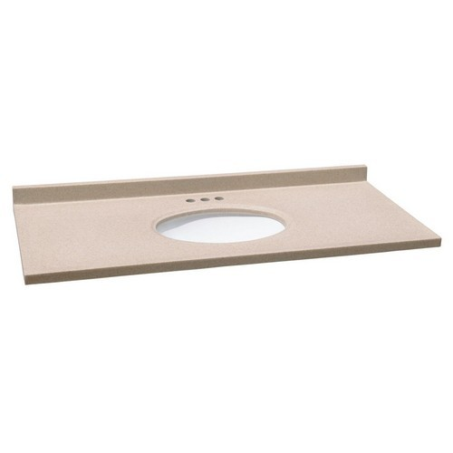 design house 553180 single bowl cultured marble vanity top