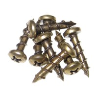 Youngdale SC.6-1/2.AB 1M, Hinge, Slide and Hardware Screw, Round Head Phillips Drive, Regular Point, Fine Thread, 1/2 x 6, Antique Brass, Box 1,000 pcs