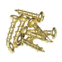 Youngdale SC.6-1/2.BB 1M, Hinge, Slide and Hardware Screw, Round Head Phillips Drive, Regular Point, Fine Thread, 1/2 x 6, Bright Brass, Box 1,000 pcs
