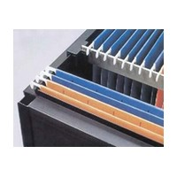 Custom Plastics CPF-32500 98-1/8 Long Hanging File Rail for 1/2 Thick Drawer Side Material