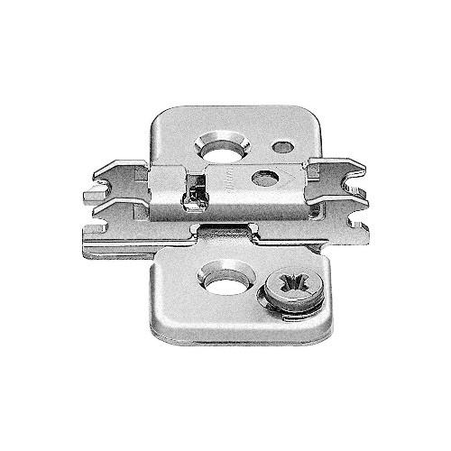 Blum 173H9100 0mm Cam Adjustable Baseplate for Wood Screws or System Screws