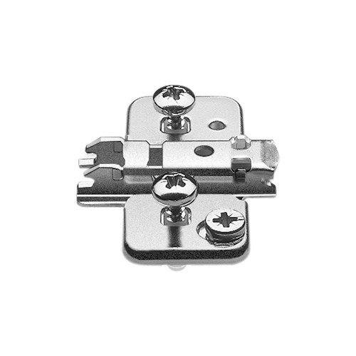 Blum 174H710ZE 0mm Wing Plate for Twin Application, Cam Adj Height, Expando Dowels