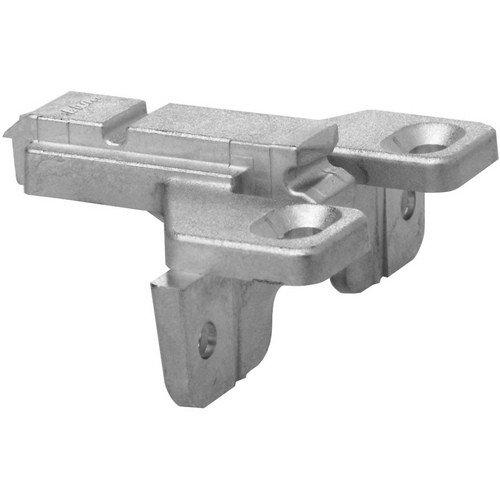 Blum 175L6600.24 0mm Face Frame Adapter Plate with Flange, Adj Height, Screw-on