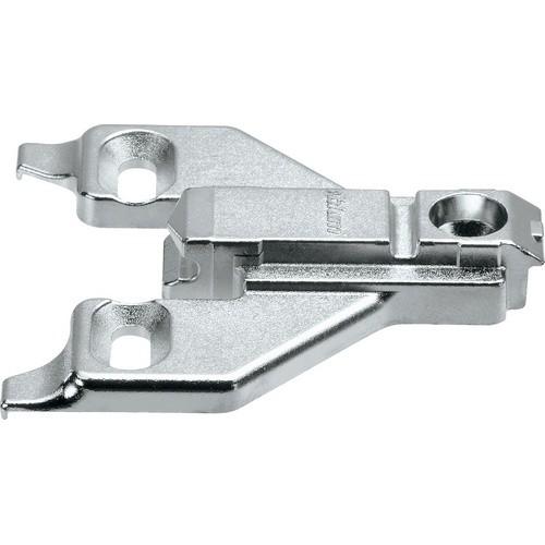 Blum 175L6660.22 6mm Face Frame Adapter Plate, Adj Height, Off Center Mount, Screw-on