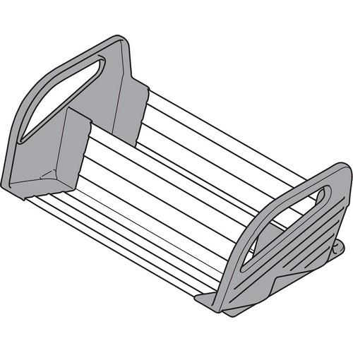 Blum ZFZ.38G0I 11-1/8 W Spice Tray Insert, Stainless Steel with Gray Nylon Parts