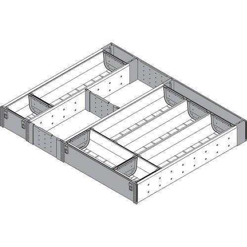 Blum ZHI.533TI4A 15-3/4 To 16-1/2 W Cutlery Drawer Insert Set - 4-Tier