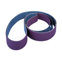 3M 51144324743 Edge Sanding Belt, Aluminum Oxide on X-Weight Cloth, 4 x 132in, 80 Grit