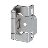 Amerock BP7550WN, Partial Wrap Self-closing Face Frame Hinge, Standard Tip, 1/2 Overlay, Weathered Nickel