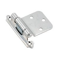 Amerock BP763026, Face Mount, HD Self-closing Hinge, Modern Design, Variable Overlay Reverse Bevel, Polished Chrome