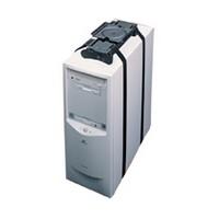 Weber-Knapp 18785 2 162, Under Desk CPU Holders, 75lb Rating, Economy Strap With Slide and Swivel Features, Black Powder Coat