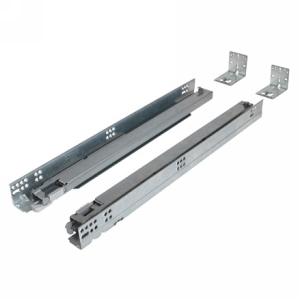 """Grass F130116433204, 18"""" Tipmatic Undermount Drawer Slide for Face Frame, 7/8 Extension, Soft-Close"""