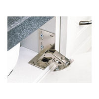 Rev-A-Shelf Euro Style Hinges, White End Caps, Bulk for Slim Series Polymer Sink Tip-Out Trays