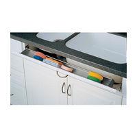 Rev-A-Shelf 6541-36-15-ETH, 36 L Polymer Sink Tip-Out Tray Set, Slim Series, Almond