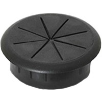 Custom Plastics CWF2870, Round Plastic 1-Piece, Wire Gripping Grommet, Bore Hole: 3-5/32in Dia, Black, 10-Pack