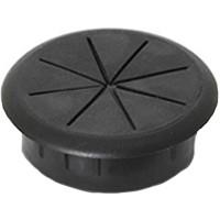 Custom Plastics CWF2870, Round Plastic 1-Piece, Wire Gripping Grommet, Bore Hole: 3-5/32in Dia, Black, 10-Pack