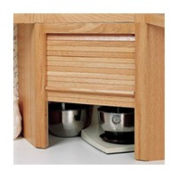 Omega National AG-100CSH, 17 W Appliance Garage Set - Corner Unit, Hickory Solid Wood Door