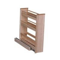 Hoffco BVI151, 5-1/16 W  Wood Base Cabinet Organizer, Hoffco Series, Birch, 5-1/16 W x 20 D x 23-3/4 H