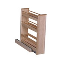 Hoffco BVI152, 8-1/16 W  Wood Base Cabinet Organizer, Hoffco Series, Birch, 8-1/16 W x 20 D x 23-3/4 H