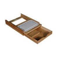 Hoffco BVI174, 20-1/16 W Drawer Mounted Cutting Board/Knife Block, Hoffco Series, Wood Knife Block with Polymer Cutting Board, 20-1/16 W x 22-1/2 D x 3-7/8 H
