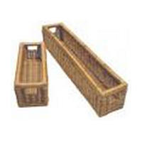 Rev-A-Shelf 4WB-1723-52, 17-1/2 Rattan Baskets, Stand Alone Basket