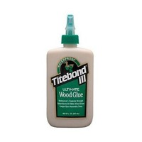 Franklin 1413, 8oz. Titebond III Ultimate Wood Glue, Waterproof, Tan Color, Dries Light Brown