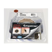 FastCap FC.SP.916.CC JUNE MAHOGANY Peel and Stick PVC Covercap, Woodgrain PVC, 9/16 Dia, June Mahogany, Box 1,000