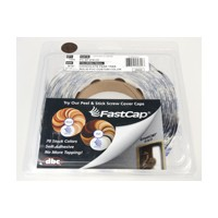 FastCap FC.SP.916.CC CHOCOLATE PEAR Peel and Stick PVC Covercap, Woodgrain PVC, 9/16 Dia, Chocolate Pear, Box 1,000