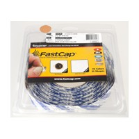 FastCap FC.SP.916.CC CANDLELIGHT Peel and Stick PVC Covercap, Woodgrain PVC, 9/16 Dia, Candlelight, Box 1,000