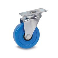 DH Casters C-LM4P1PUS, Plate Mount Swivel & Rigid Caster, Medium Duty, 4in, 275lb Capacity, Plate Size 2-3/8 x 3-5/8