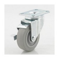 DH Casters C-LM35P1TPS, Plate Mount Swivel & Rigid Caster, Medium Duty, 3-1/2, 220lb Weight Capacity, Plate Size 2-3/8 x 3-5/8