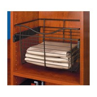Rev-A-Shelf CB-181607CR-3, Pull-Out Wire Closet Basket, 18 W x 16 D x 7 H, Chrome