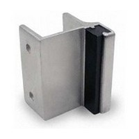 Jacknob 5213, Toilet Door Stainless Steel Strikes/Keepers for Out-Swing Doors, Stainless Steel