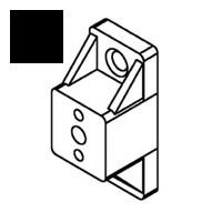 Bainbridge 3601BK-22, 3/4 Drawer Slide Spacer, Black