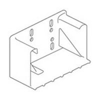 Blum 295.3700.21 Rear Socket for 9in Blum TANDEM Undermount Drawer Slide, Inside Cabinet Depth 10-15/32 - 11-3/32in