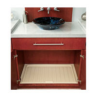 Rev-A-Shelf SBVDT-2730-A-12 Bulk-12, 28-1/2 Polymer Vanity Sink Base Drip Tray, Almond