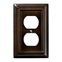 Liberty Hardware 126340, Single Duplex Wall Plate, Espresso, Wood Architectural