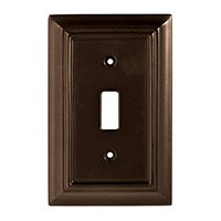 Liberty Hardware 126342, Single Switch Wall Plate, Espresso, Wood Architectural
