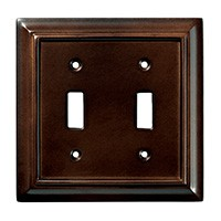 Liberty Hardware 126343, Double Switch Wall Plate, Espresso, Wood Architectural