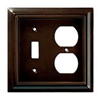 Liberty Hardware 126381, Single Switch/Duplex Wall Plate, Espresso, Wood Architectural