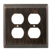 Liberty Hardware 126389, Double Duplex Wall Plate, Venetian Bronze, Stately