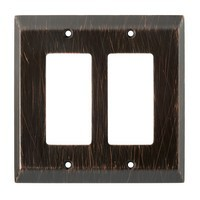 Liberty Hardware 126390, Double Decorator Wall Plate, Venetian Bronze, Stately Collection